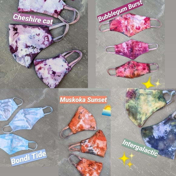 Marble effect Tie dyed reusable masks